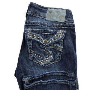 """Silver Suki Flap 17"""" Bootcut Jeans"""